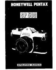 Buy PENTAX SP500 CAMERA INSTRUCTIONS by download #119167
