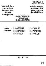 Buy Hitachi R-57AGD5 EN Manual by download Mauritron #225521