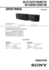 Buy Sony SS-CPX22NXM3 Service Manual. by download Mauritron #244712