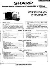 Buy Sharp QTF10H-E-A-C-X -DE-FR Service Manual by download Mauritron #210256