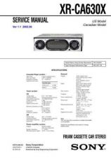 Buy Sony XR-CA600CA600VCA600X Service Manual. by download Mauritron #246242