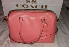 Buy NWT Coach 50430 Peyton Bennett Mini Satchel Handbag in Coral Leather MSRP $228