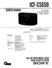 Buy Sony icf-cs650 Service Manual. by download Mauritron #241604