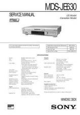 Buy Sony MDS-JE630 service manual Technical Manual. by download Mauritron #242700