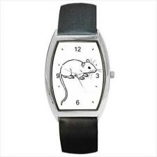 Buy Pet Rat Rodent Unisex Barrel Wrist Watch