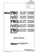 Buy NIKON F60-N60-F60D-N60D-F60D Panorama Parts List by download Mauritron #266024