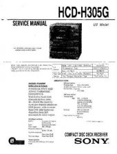 Buy Sony HCD-H305G-2 Service Manual by download Mauritron #232035