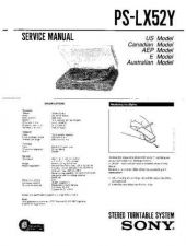 Buy Sony PS-LX52-LX52P Service Manual. by download Mauritron #243552