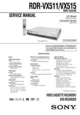Buy Sony RDR-VX511VX515 Technical Manual. by download Mauritron #243616