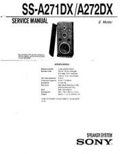 Buy Sony SS-A290DX Service Manual. by download Mauritron #244619