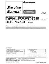 Buy Pioneer DEH-P8250-3 Service Manual by download Mauritron #233738