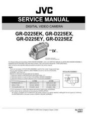 Buy JVC GR-D225E Service Manual Schematic Circuit. by download Mauritron #270550