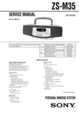 Buy Sony ZS-M35-2 Service Manual by download Mauritron #241978