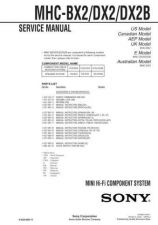 Buy Sony MHC-BX2-DX2-DX2B-2 Service Manual. by download Mauritron #242823