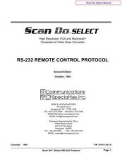 Buy COMMUNICATIONS SPECIALITIES INC MN-1290 SCANDOSELECT REMOTE by download #119969
