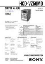 Buy Sony HCD-VX55-VX55J Service Manual by download Mauritron #241299