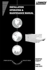 Buy LENOX ROOFTOP FLEXY SERVICE & OPERATING Manual by download Mauritron #230136