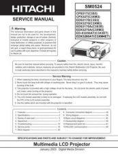 Buy Hitachi CP-X201(C14B-20) Service Manual by download Mauritron #261004