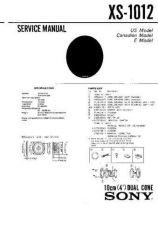 Buy Sony XS-1012 Service Manual. by download Mauritron #246264
