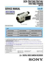 Buy Sony TRV740ETRV840[0] Service Manual. by download Mauritron #245587