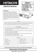 Buy Hitachi SM 0547E Manual by download Mauritron #225549