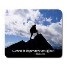 Buy Success Quote Sophocles Mountain Climber Computer Mouse Pad