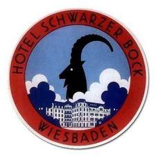 Buy Hotel Schwarzer Bock Wiesbaden Retro Travel Art Vinyl 5 Inch Magnet