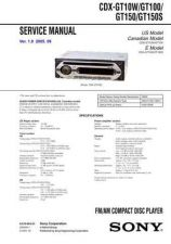 Buy Sony CDXGT10W Service Manual by download Mauritron #238579