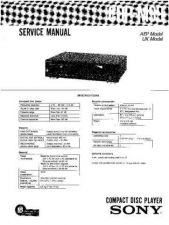 Buy Sony CDP-M99 Service Manual by download Mauritron #231685
