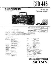 Buy Sony CFD-450 Service Manual by download Mauritron #238713