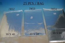 Buy 50 bags / envelopes, clear cellophane size with adhesive strip 12X17 (30X45 cm)