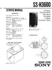 Buy Sony SS-H1600 Service Manual. by download Mauritron #244802