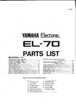 Buy Yamaha EL70-90 PCB11 E Manual by download Mauritron #256574