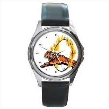 Buy Circus Tiger Ring Of Fire Art Unisex Round Wrist Watch