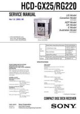 Buy Sony HCD-RG220 Manual by download Mauritron #229250
