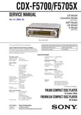 Buy Sony CDX-F5700-F5705X Service Manual by download Mauritron #231721