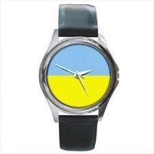 Buy Ukraine Ukrainian Flag New Round Unisex Wrist Watch
