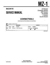 Buy Sony MZ-1... Service Manual. by download Mauritron #243057