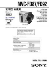 Buy Sony MVC-FD85FD90-- Service Manual. by download Mauritron #243014