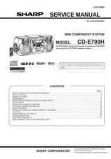 Buy Sharp CDE700H (1) Service Manual by download Mauritron #208608