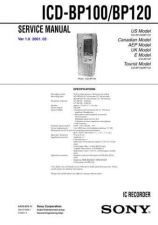 Buy Sony ICD-BP100BP120 Service Information by download Mauritron #237852