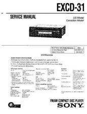 Buy Sony EXCD-31 Service Manual by download Mauritron #240634