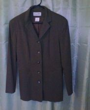 Buy PARADOX Blazer Button Down Collar Tailored Back (size 10) Lining 100% Acetate