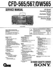 Buy Sony CFD-565-567-DW565 Service Manual by download Mauritron #238735