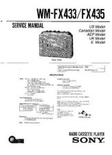 Buy Sony WM-FX433-F435 Service Manual by download Mauritron #233456