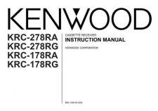 Buy Kenwood KRC-279RG Operating Guide by download Mauritron #219265