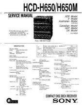 Buy Sony HCD-H650-H650M Service Manual by download Mauritron #241156