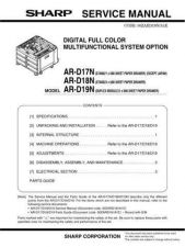 Buy Sharp ARD21-D22 PG GB(1) Service Manual by download Mauritron #208222