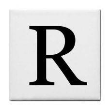 Buy Letter R Alphabet Georgia Font Decorative Ceramic Tile