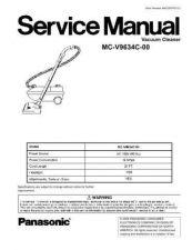 Buy Panasonic MC-V7721-00 Service Manual by download Mauritron #267702
